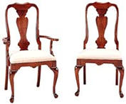 Cherry Queen Anne Chairs Dining
